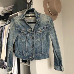 Aritzia cropped jean jacket
